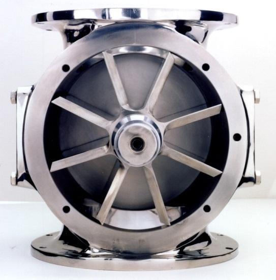Drop through rotary valve